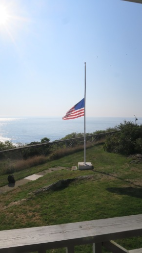 The flag has been at half staff all week in honor of Senator John McCain.
