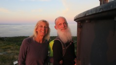 Cheri and Turner came in kayaks and camped for three nights. They were regulars at sunset.